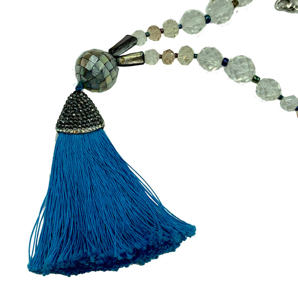 Amy Delson Jewelry Blue tassel necklace