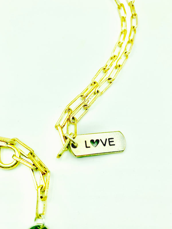 LOVE Paperclip Chain Necklace