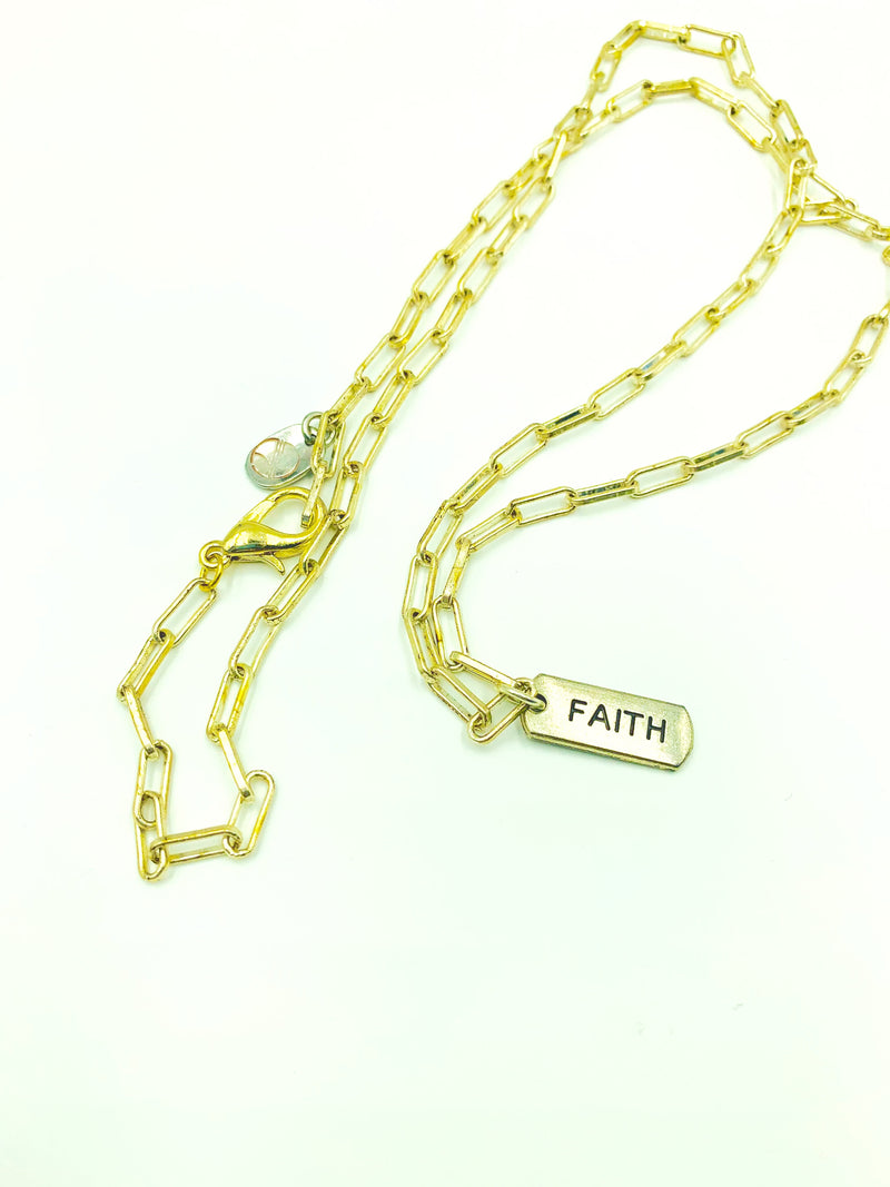 Amy Delson Jewelry FAITH Paperclip Chain Necklace