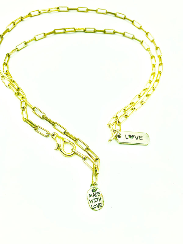 Amy Delson Jewelry LOVE Paperclip Chain Necklace