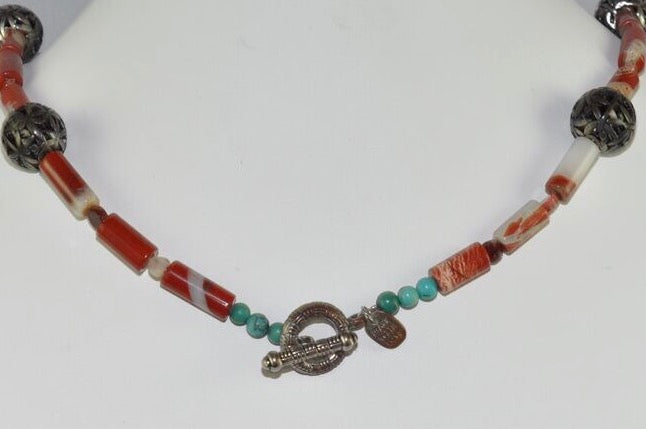 Back of Amy Delson Jewelry Jasper Necklace