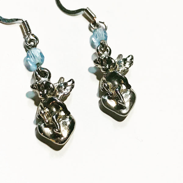 Amy Delson Jewelry angel heart earrings