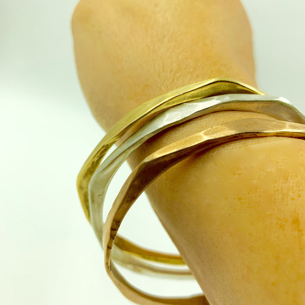 Amy Delson Jewelry Forged Bangles