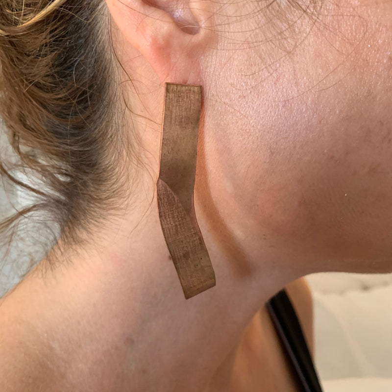 Amy Delson Jewelry Copper Embossed Earring