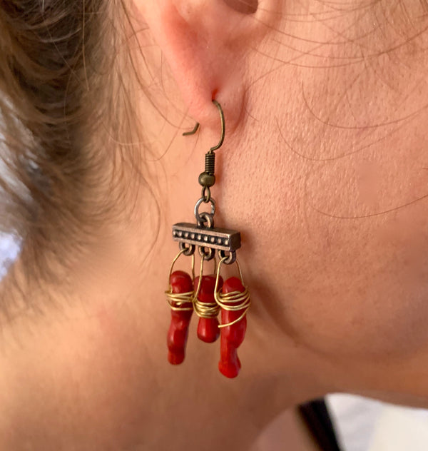 Amy Delson Jewelry Coral Earrings