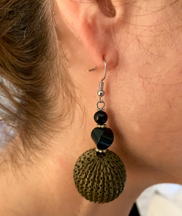 Amy Delson Jewelry Onyx and Vintage earring