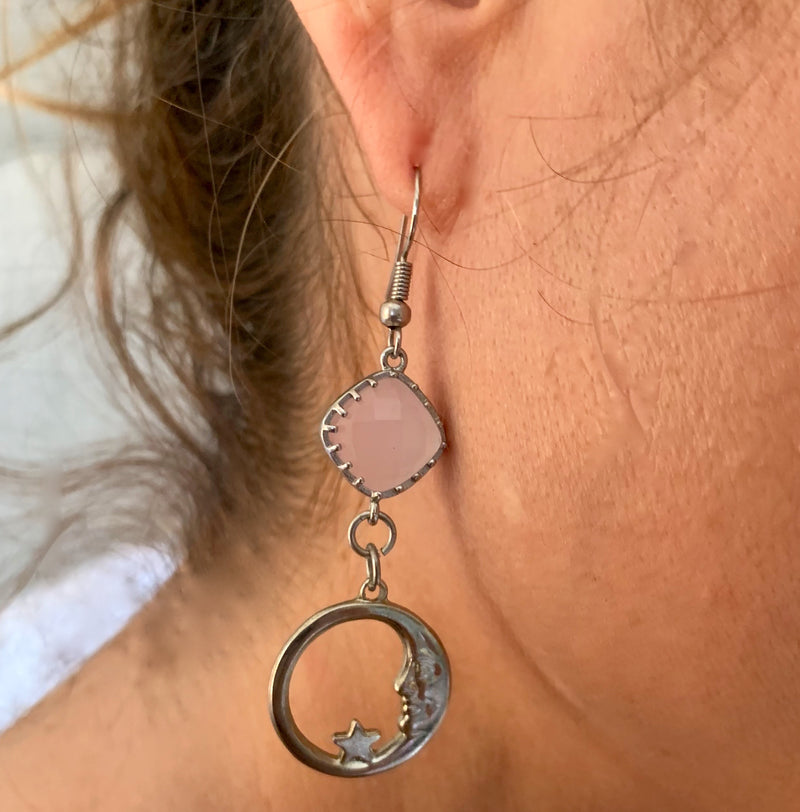 Amy Delson Jewelry Pink Moon Earring