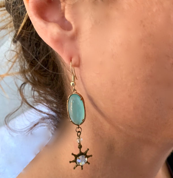Amy Delson Jewelry Crystal Star Earring