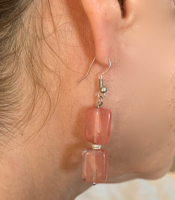 Amy Delson Jewelry Pink Earrings