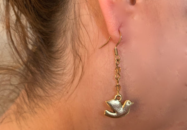 Amy Delson Jewelry golden dove earrings