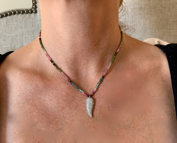 Amy Delson Jewelry Tourmaline Wing Necklace