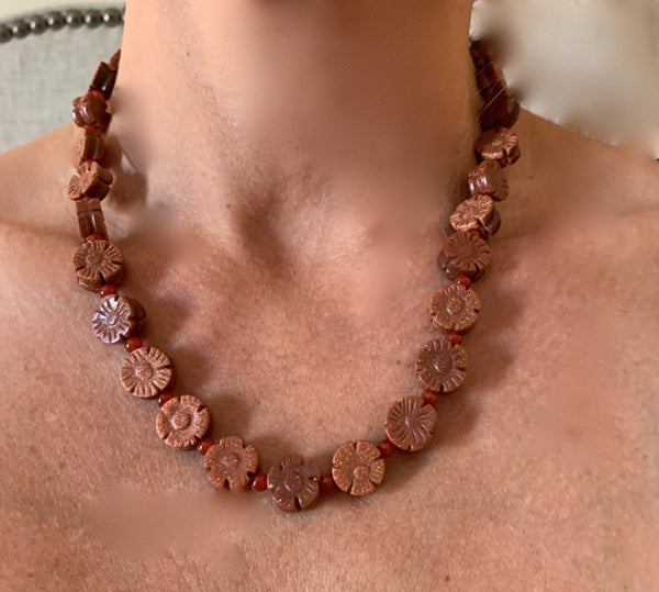 Amy Delson Jewelry Goldstone daisy necklace