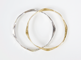Amy Delson Jewelry Gold and Silver Forged Bangles