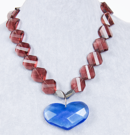 Amy Delson Jewelry Blue Heart Necklace