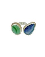 Amy Delson Jewelry Malachite Kyanite Ring in Sterling Silver