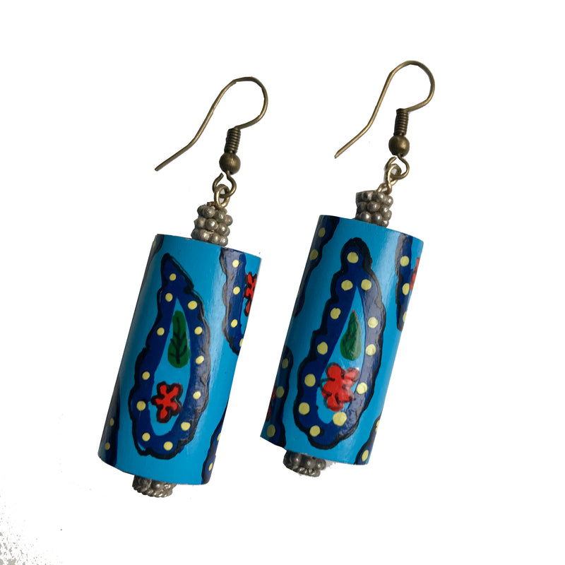 Amy Delson Jewelry painted wooden earrings