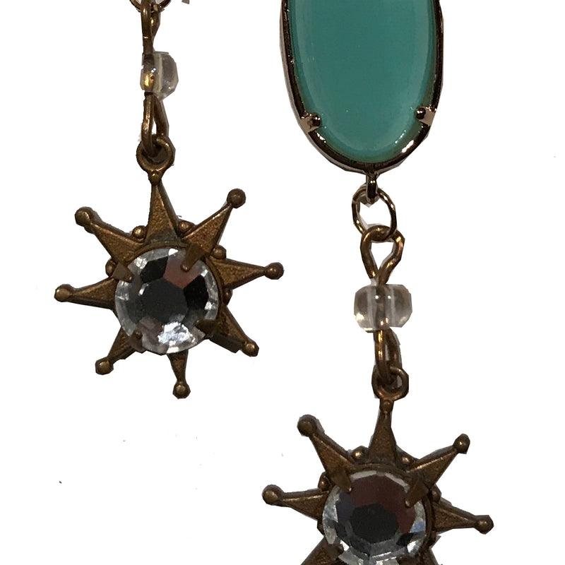 Vintage star charms - earrings by Amy Delson Jewelry