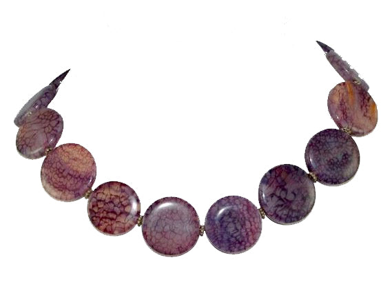 Amy Delson Jewelry Purple Lace Agate Necklace