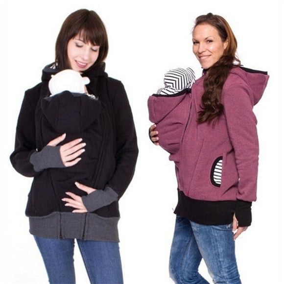 Winter Hooded Jacket with Infant Carrier - BabyBloomPlace