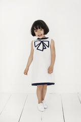 girls dress organic cotton white sleveeless