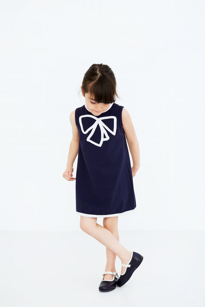 girls dress organic cotton blue sleeveless