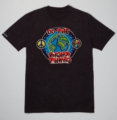 T-Shirt - Black Batik - Do The Right Thing
