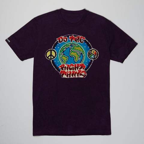T-Shirt - Purple Batik - Do The Right Thing