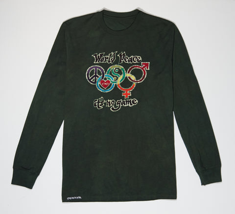 Longsleeve - Green Batik - World Peace