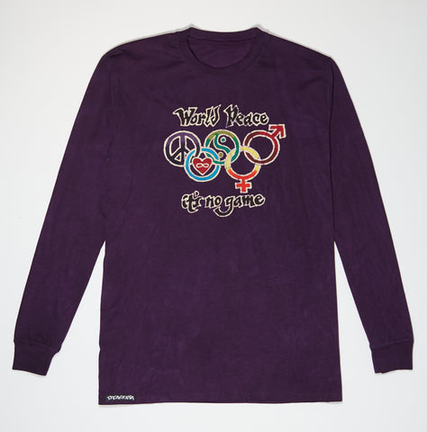 Longsleeve - Purple Batik - World Peace