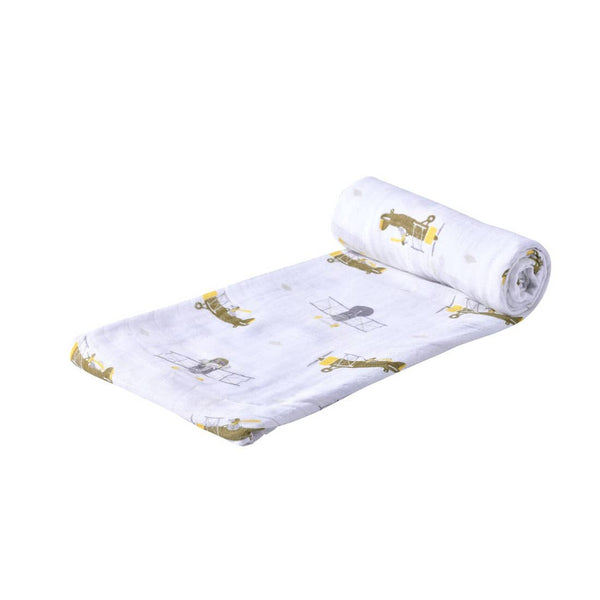 Airplane Animals Swaddle