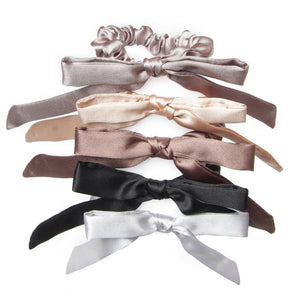 Champs Elysse 5 Pack Skinny Bow Scrunchies