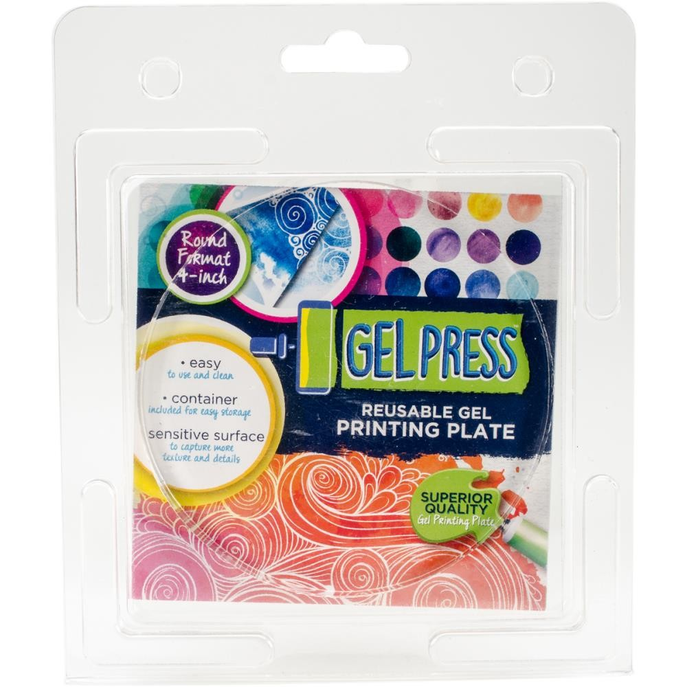 "Gel Press Circle 4"" - Lavinia World"