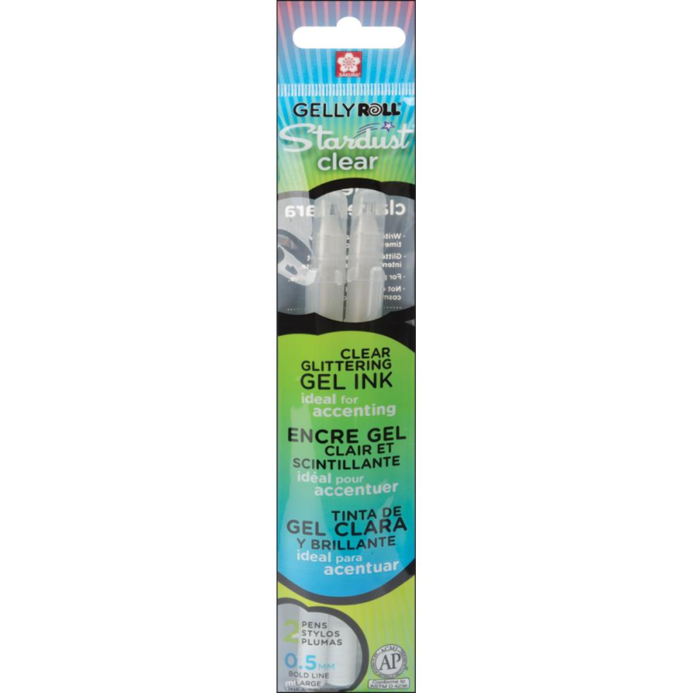 Gelly Roll Pens - Clear Glitter - Set of 2 - Lavinia World