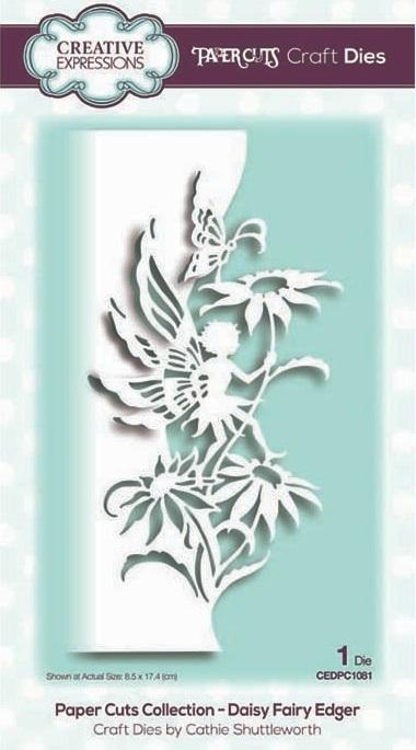 Creative Expressions - Paper Cuts Collection - Daisy Fairy Edger - Lavinia World