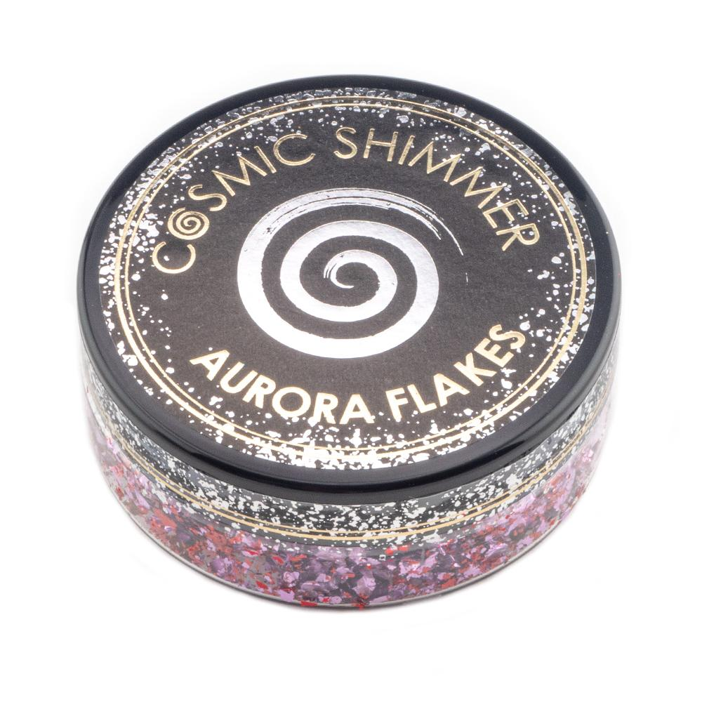 Cosmic Shimmer Aurora Flakes 50ml - Blissful Berry - Lavinia World