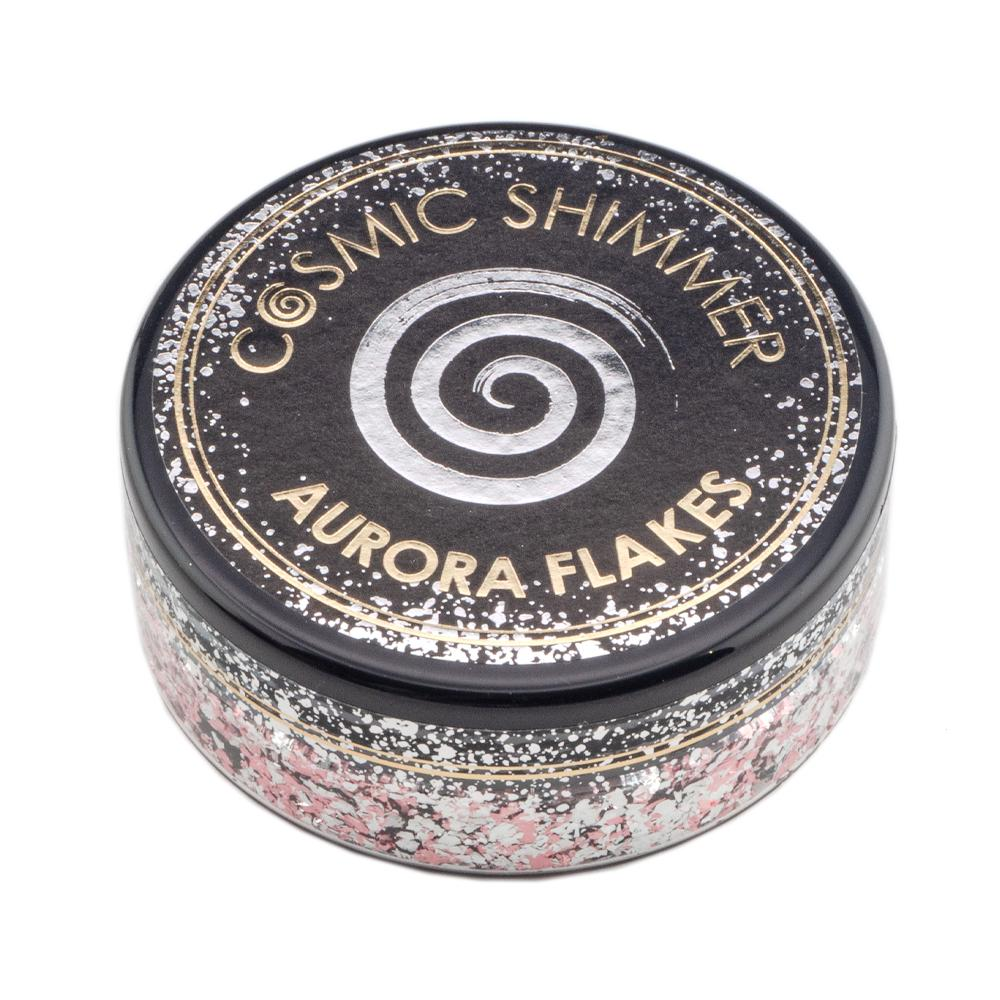 Cosmic Shimmer Aurora Flakes 50ml - Icy Pink - Lavinia World