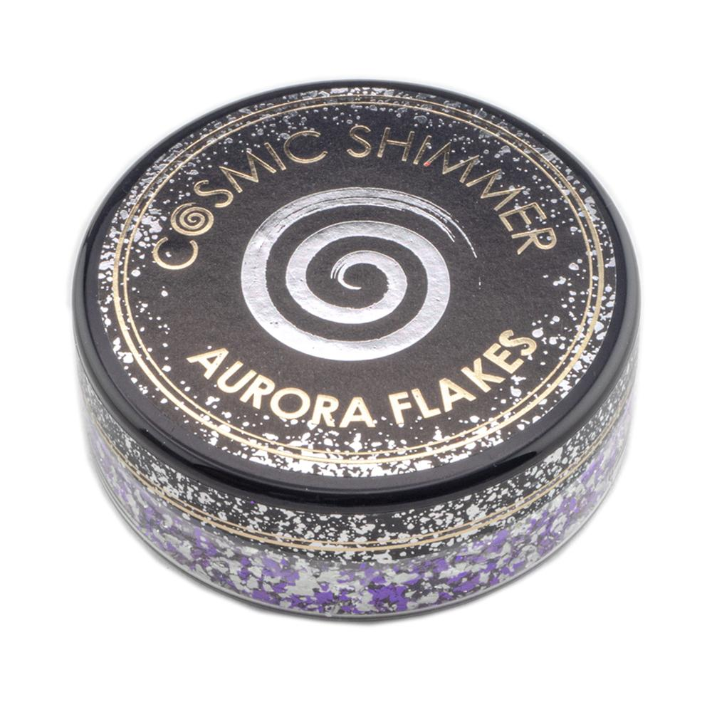 Cosmic Shimmer Aurora Flakes 50ml - Frosted Violet - Lavinia World