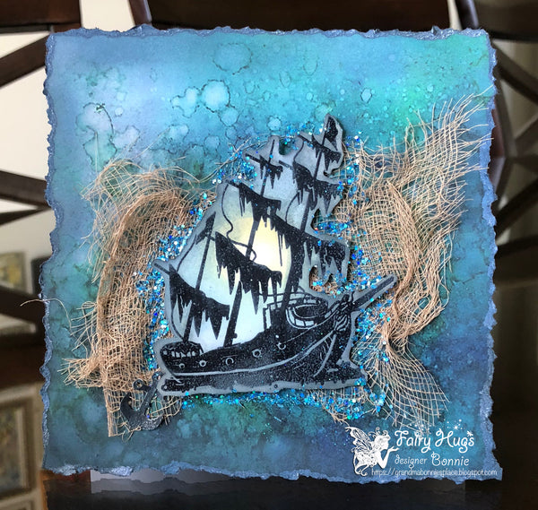 Fairy Hugs Stamps - Sunken Ship