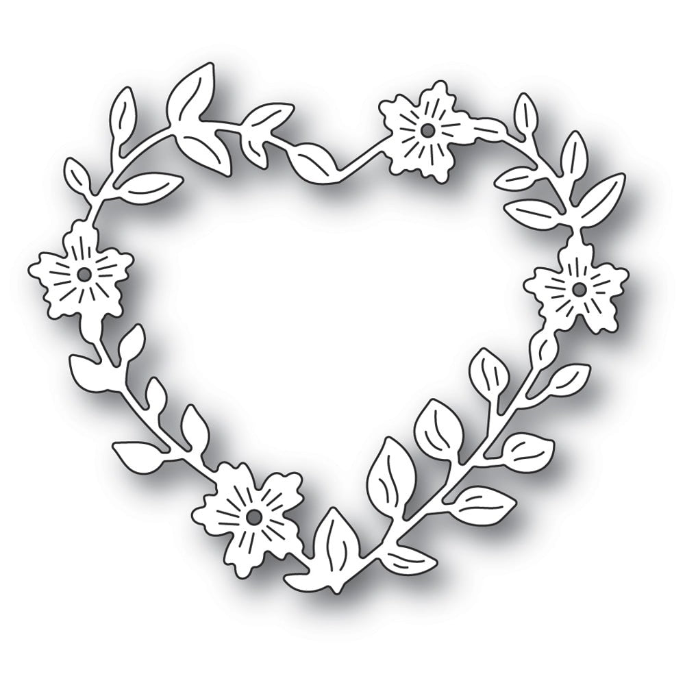 Memory Box - Dies - Blooming Heart Wreath - Lavinia World