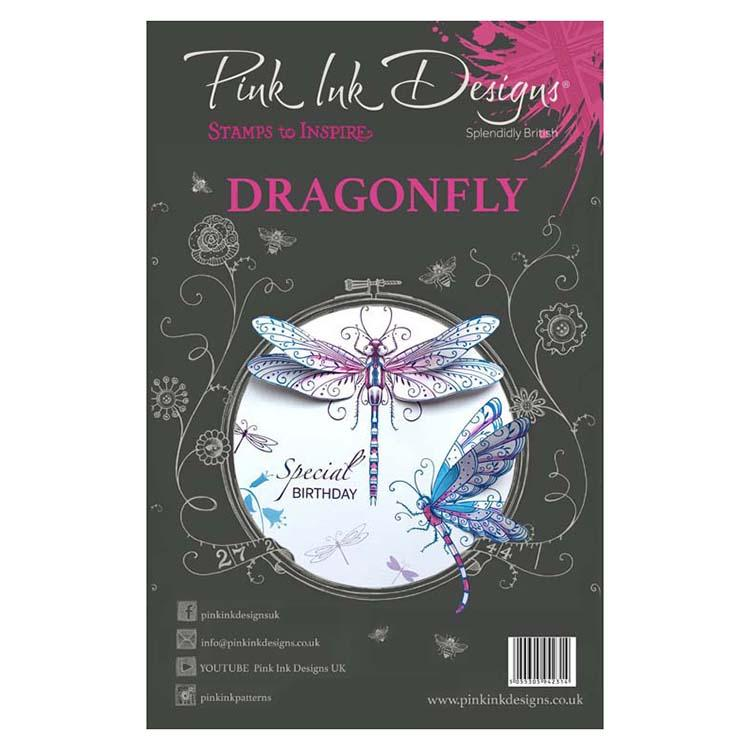 Pink Ink Designs - Stamps - Dragonfly - Lavinia World