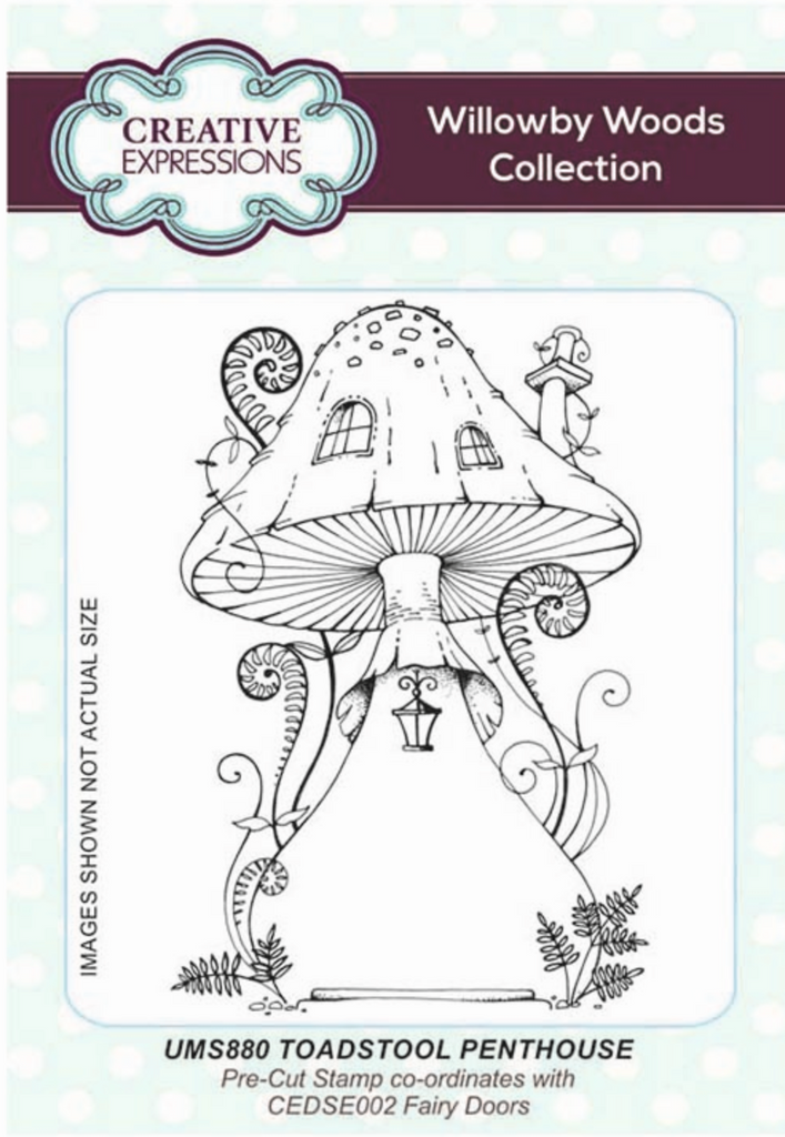 Creative Expressions Toadstool Penthouse A6 Pre Cut Rubber Stamp - Lavinia World