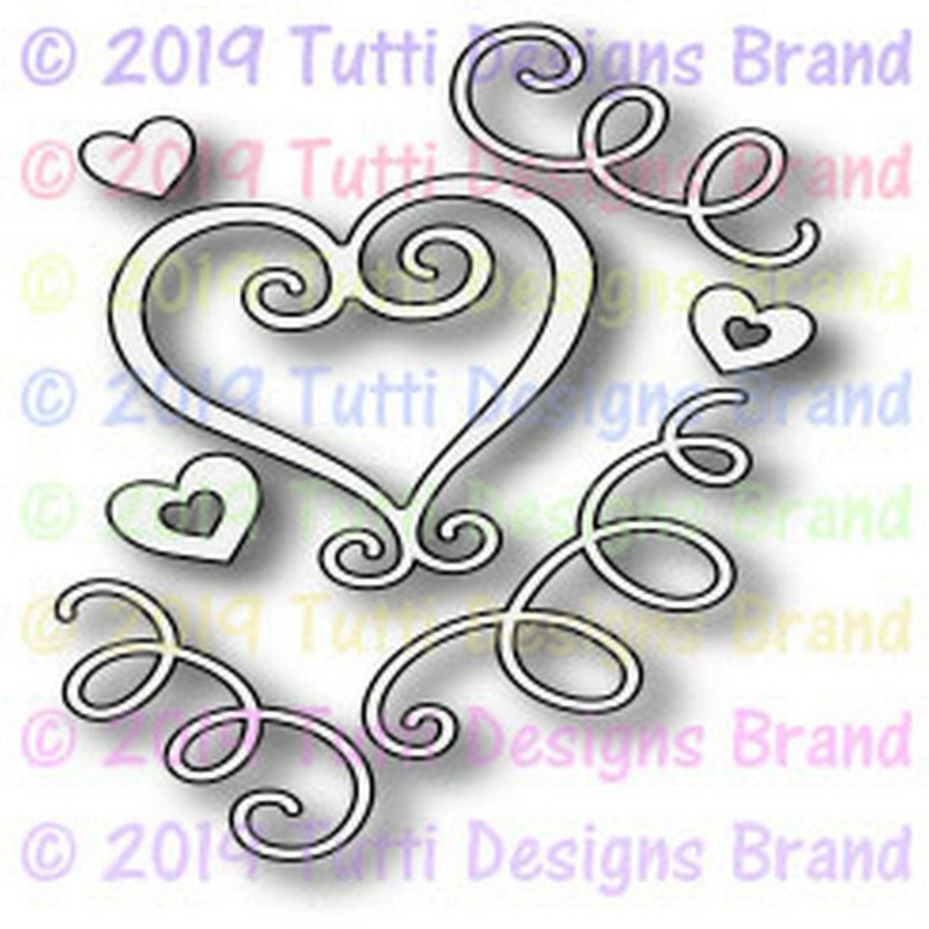 Tutti Designs Dies - Love Scribbles - Lavinia World