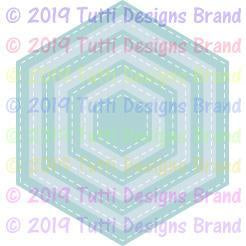Tutti Designs Dies - Stitched Hexagons - Lavinia World