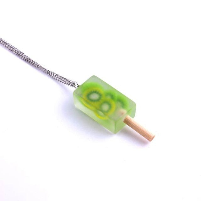 Necklace with Popsicle Fruit Pendant