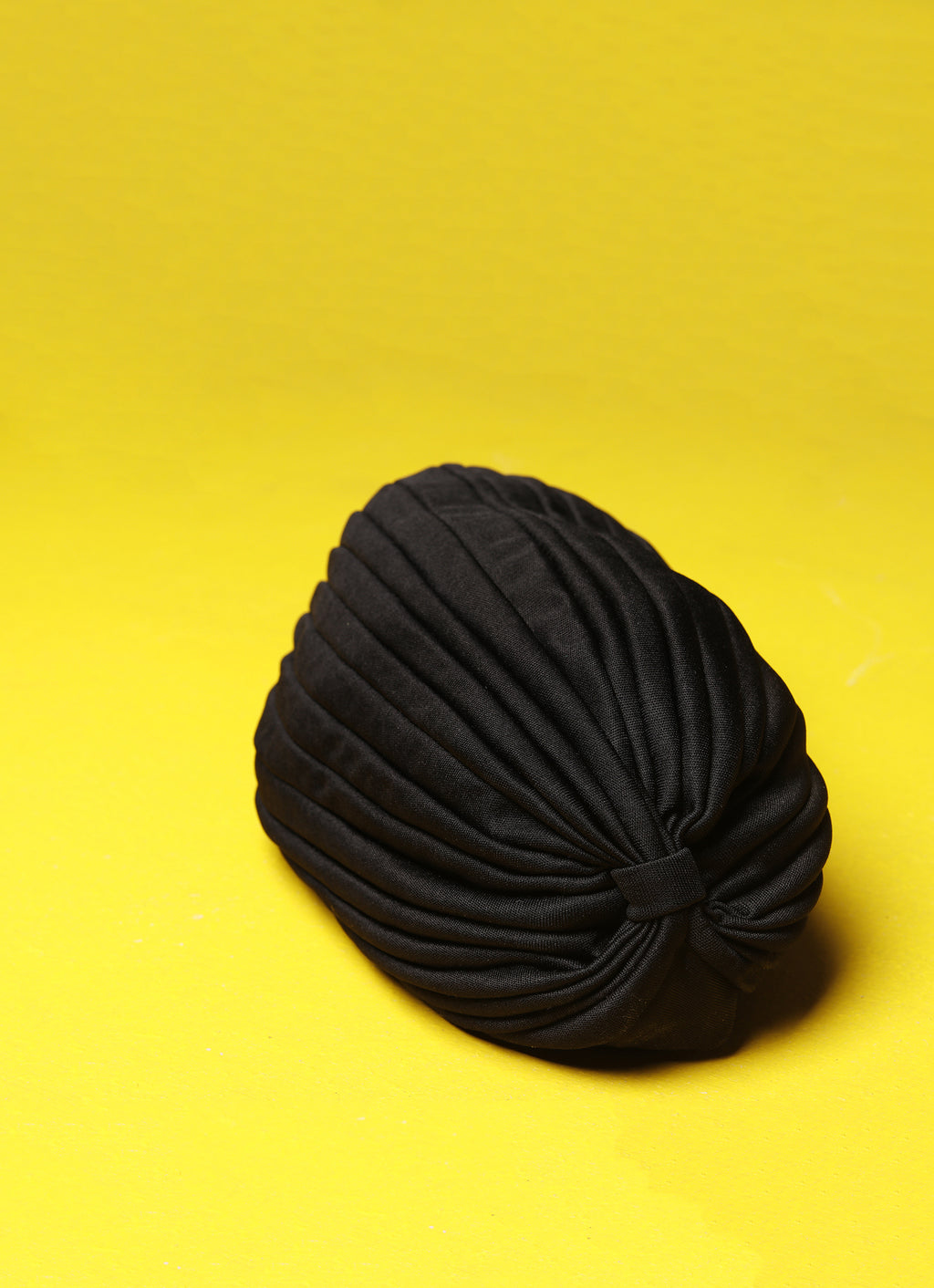 Black Front Knot Hat