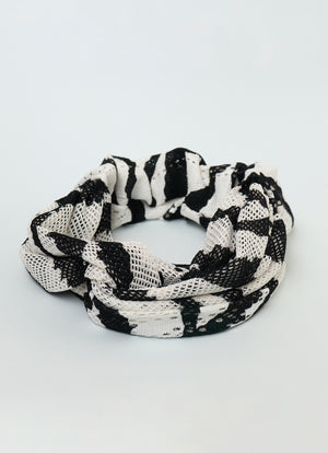 Zebra Sheer Twist Front Headband
