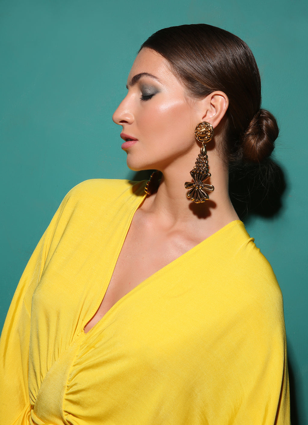 """Golden Garden"" Statement Earrings"