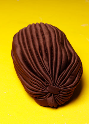 Brown Knot Front Hat