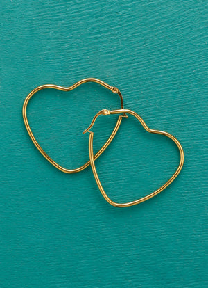 Heart Statement Hoops