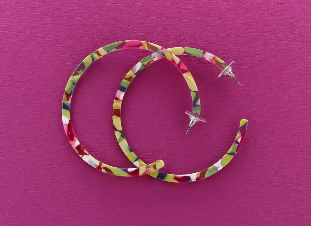 Colorful Hoop Earrings